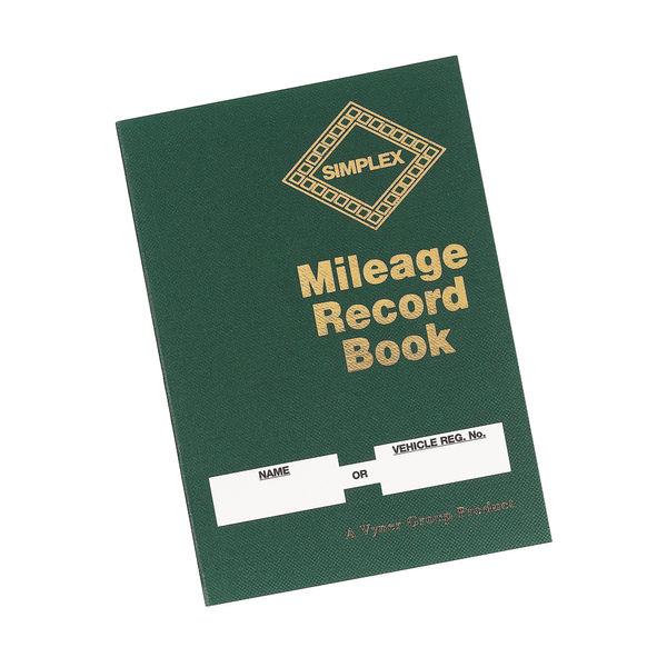 Simplex Mileage Record Book Green